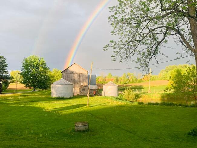 Rainbow at our Farm Lynden, Hamilton, ON