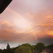 Sunset rainbow combo tonight in Hamilton
