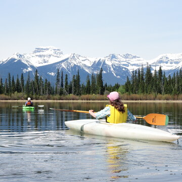 Kayaking on Vermilion Lakes