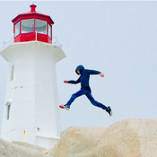 Peggys Cove Lighthouse Leap