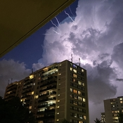 Thunderstorm over the don valley