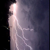 Current lightning in thorold, Ontario