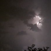 Lightning storm in Brampton