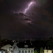 Lightening Strike Over Hamilton
