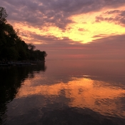 Sunrise on Lake Simcoe