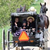 Amish Family Sunday Ride