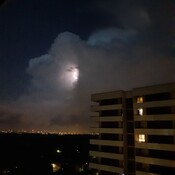 Lightning storm in Thornhill, Ontario on Tues., June 2, 2020