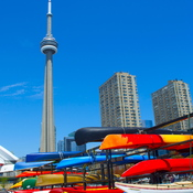 A walkabout at Harbourfront on a blue sky day.