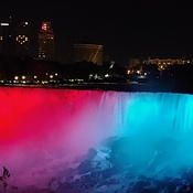 Niagara falls day and night