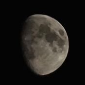 Clear night for a zoomed moon shot