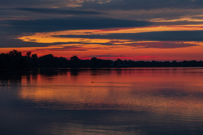 Bay of Quinte before sunrise Belleville, ON