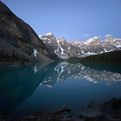 5 am waiting for a sunrise at Lake Moraine