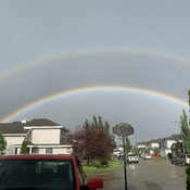 Double rainbow in Edmonton