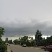 Storm cloud heading towards Sherwood park