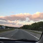 Nice road view of the clouds
