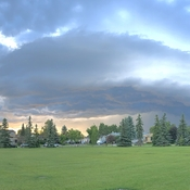 Calgary storm from the north