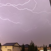 Thurs July 9 Beaumont lightening storm