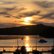 Evening at Bedwell Harbour, Penzer Island BC.