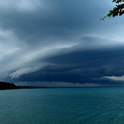 Incoming storm on Lake Huron