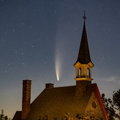 Comet Neowise and Grand Pre' Church Steeple