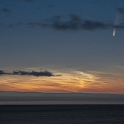 Comet Neowise And Noctilucent Clouds