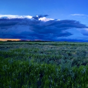 Storm cloud panorama