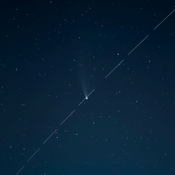 International Space Station flies past Comet NEOWISE