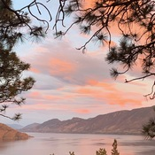 Sunset in Peachland!