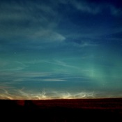 Northern Lights w. Noctilucent Clouds