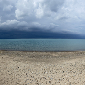 Storm approaching over Lake Huron