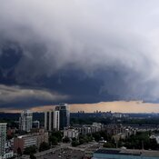 Scary Rain Storm and clouds threatens Port Credit