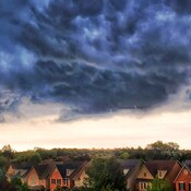 dark clouds over Oakville