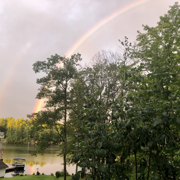 Double rainbow on the Severn River