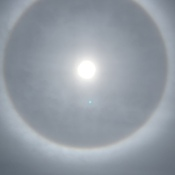 Rainbow over the sun