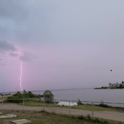 Lightning in North West River