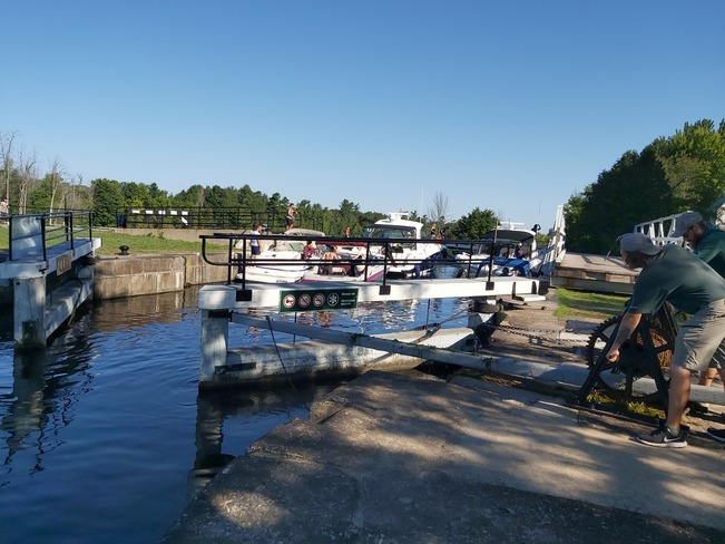 Another busy day at the locks! Manotick, ON