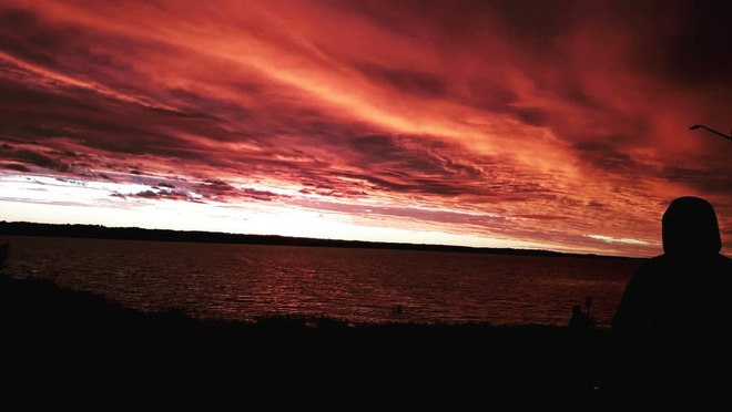 Red Sunset Lac La Biche, AB