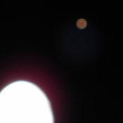 Photo of the moon and mars