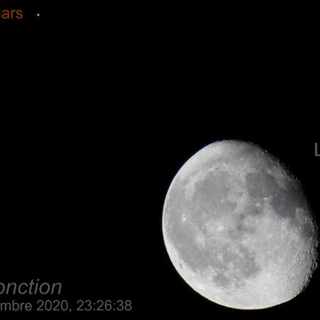 Conjonction du 5 Sept 2020 , Mars vs Lune