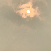 Sun from the wildfires
