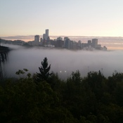 Edmonton High Level Bridge - Morning fog