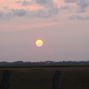 Sunset over Grand Pre Dykeland