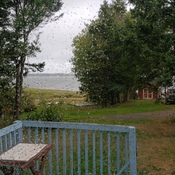 Raining in caribou n.s today