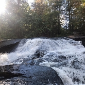 Waterfalls during portage