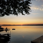 Crowe Lake sunset