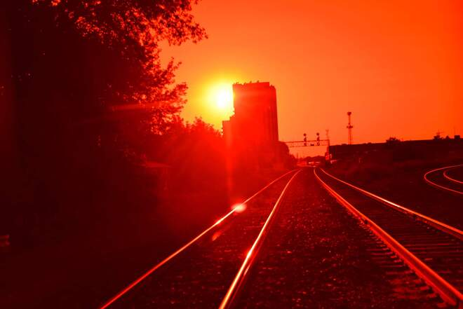 sun going down in the junction Dovercourt-Wallace Emerson-Junction, ON