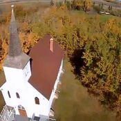 An old church in Radway Alberta .