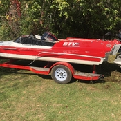 After being in a accident this boat was recovered from the bottom of the Trent.