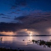 Electrical Storm Over Texada Island
