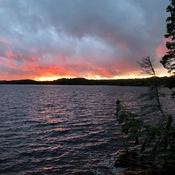 Beautiful sunset after a stormy day. Craigs Lake - Algonquin Park
